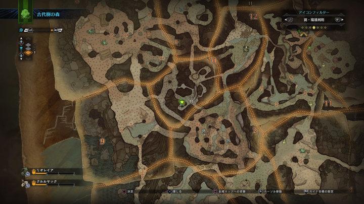 古代樹の森エリア10のガジャブーの言語痕跡がある場