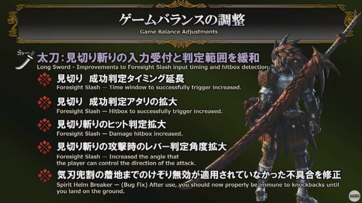 ゲームバランスの調整【武器】