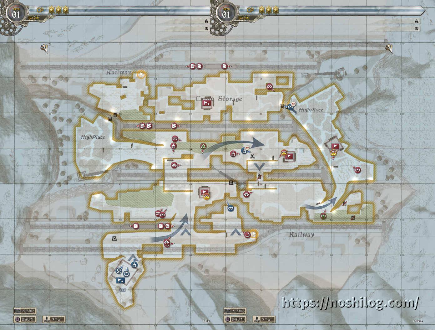 補給基地強襲戦 全体マップ