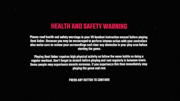 健康と安全に関する警告